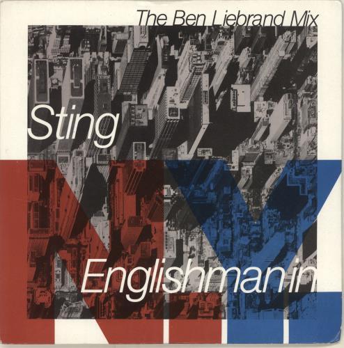 """Sting Englishman In New York 7"""" vinyl single (7 inch record) UK STI07EN17184"""