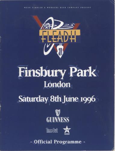 Sting Fleadh tour programme UK STITRFL712833