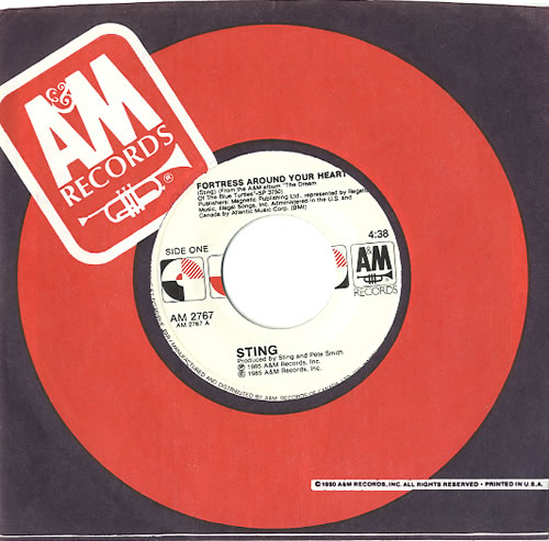 """Sting Fortress Around Your Heart 7"""" vinyl single (7 inch record) Canadian STI07FO58806"""