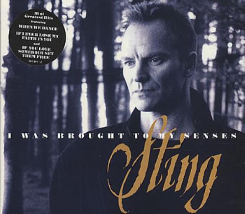 "Sting I Was Brought To My Senses - Digipak CD single (CD5 / 5"") UK STIC5IW82248"