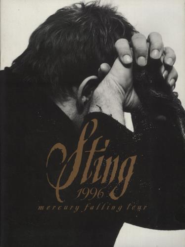 Sting Mercury Falling Tour + Newspaper Cutting tour programme UK STITRME721540