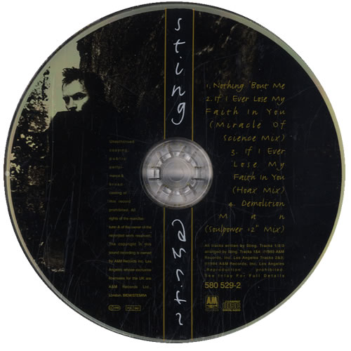 "Sting Nothing 'Bout Me CD single (CD5 / 5"") UK STIC5NO26125"
