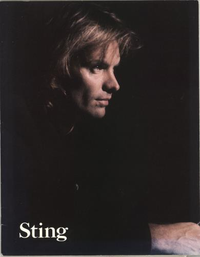 Sting Nothing Like The Sun World Tour 1987-1988 tour programme UK STITRNO188276