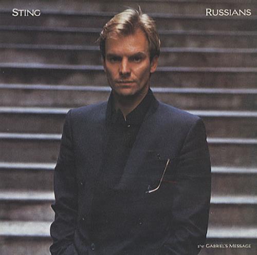 "Sting Russians 7"" vinyl single (7 inch record) UK STI07RU195605"