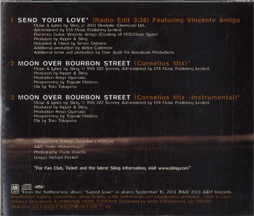 "Sting Send Your Love CD single (CD5 / 5"") Japanese STIC5SE584639"