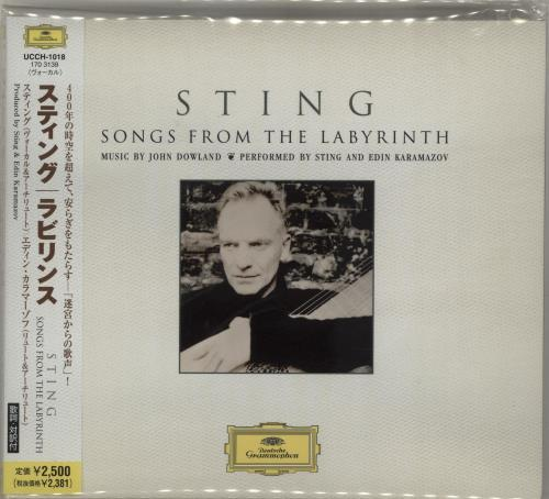 Sting Songs From The Labyrinth CD album (CDLP) Japanese STICDSO686566