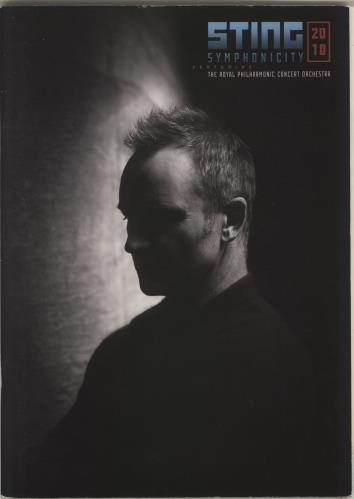 Sting Symphonicity 2010 tour programme UK STITRSY718170