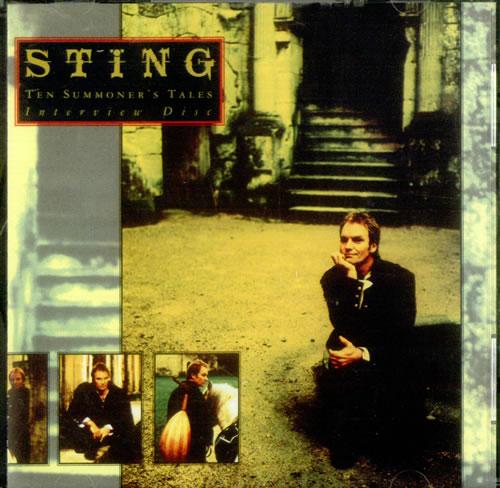 Sting Ten Summoner S Tales Interview Us Promo Cd Album