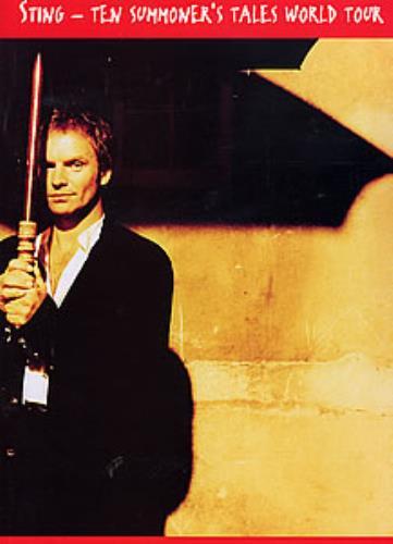 Sting Ten Summoner's Tales World Tour tour programme UK STITRTE257944