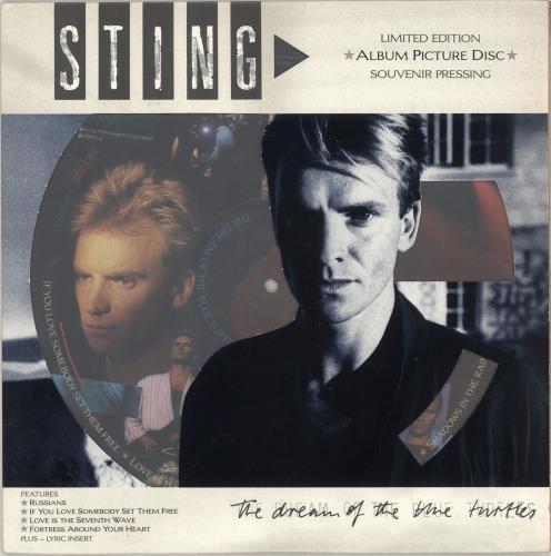Sting The Dream Of The Blue Turtles - EX picture disc LP (vinyl picture disc album) UK STIPDTH620784