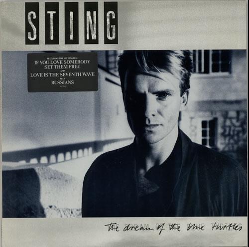 Sting The Dream Of The Blue Turtles - Stickered sleeve vinyl LP album (LP record) German STILPTH627867