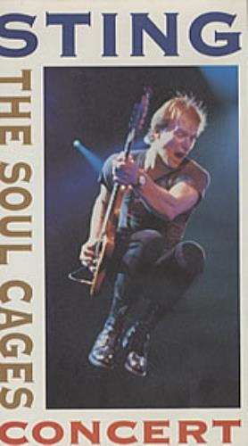 Sting The Soul Cages Concert video (VHS or PAL or NTSC) UK STIVITH168288