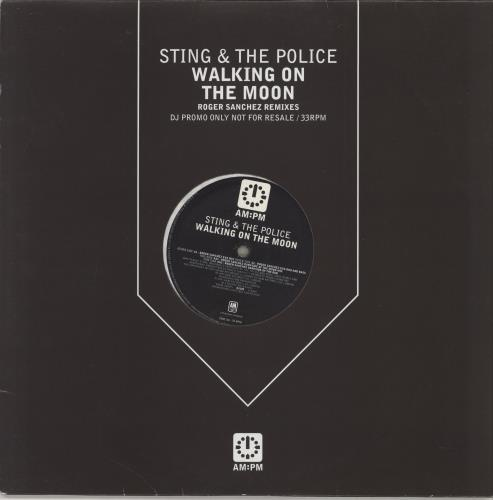 "Sting Walking On The Moon 12"" vinyl single (12 inch record / Maxi-single) UK STI12WA144389"