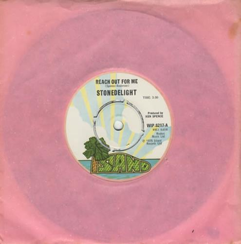 "Stonedelight Reach Out For Me 7"" vinyl single (7 inch record) UK 2SD07RE450835"