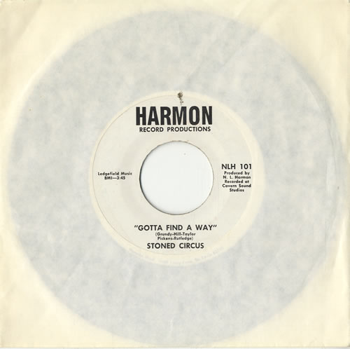 "Stoned Circus Gotta Find A Way 7"" vinyl single (7 inch record) US VZO07GO574881"