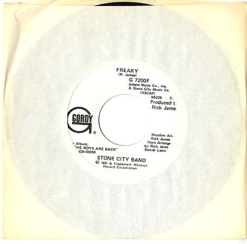 "Stone City Band Freaky 7"" vinyl single (7 inch record) US V6S07FR591915"