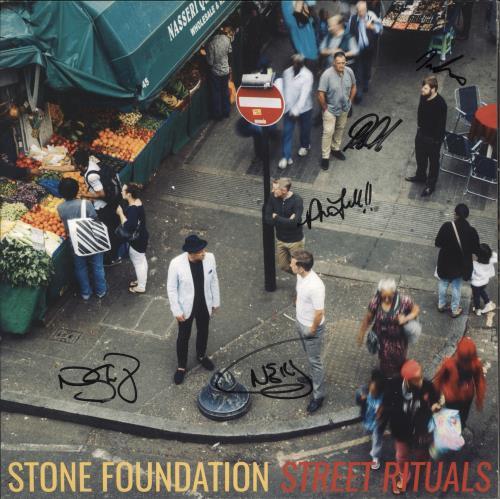 Stone Foundation Street Rituals - Clear Vinyl + Autographed vinyl LP album (LP record) UK 0TOLPST734590