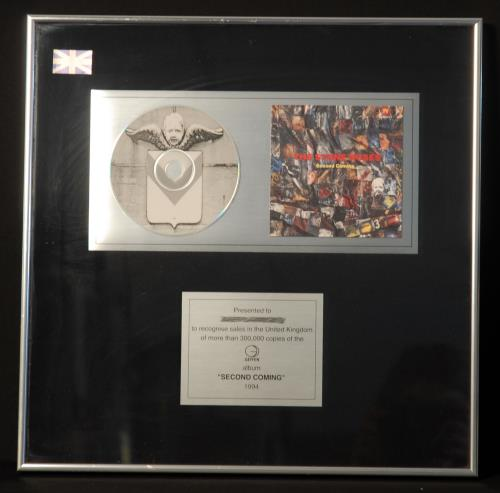 Stone Roses Second Coming in-house award disc UK STOAISE689220