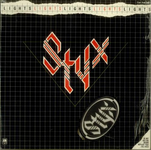 Styx Lights Sew On Patch UK 12 Vinyl Single 12 Inch Record
