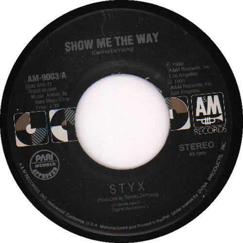 styx show me the way philippino 7 vinyl single 7 inch record 644544