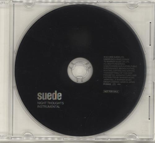 Suede Night Thoughts - 1st + Competition CD 2-disc CD/DVD set Japanese SUE2DNI654061