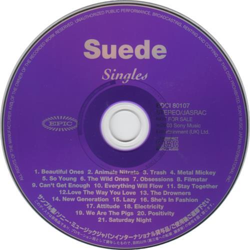 Suede Singles CD album (CDLP) Japanese SUECDSI281562
