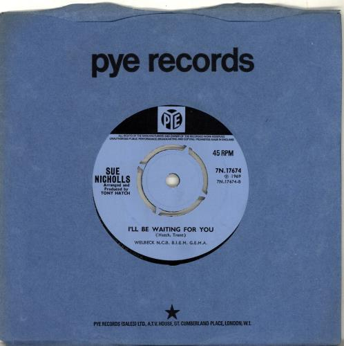 "Sue Nicholls All The Way To Heaven 7"" vinyl single (7 inch record) UK VUE07AL691387"