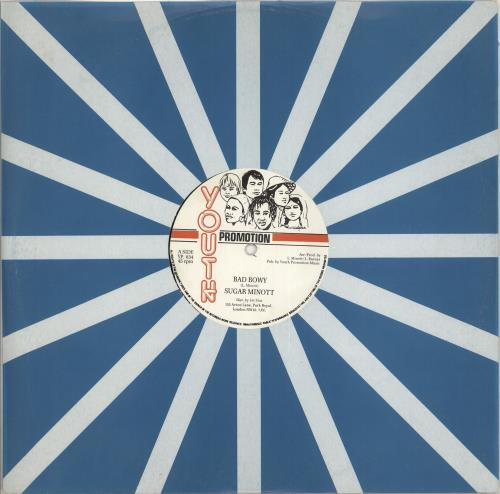 "Sugar Minott Bad Bwoy 12"" vinyl single (12 inch record / Maxi-single) UK S/M12BA712272"