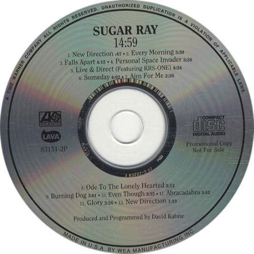 Sugar Ray 14 59 Fourteen Us Promo Cd Album Cdlp