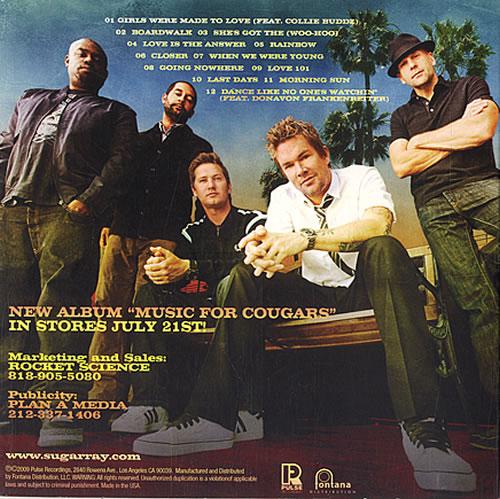 Sugar Ray Music For Cougars Promo Album Cdlp
