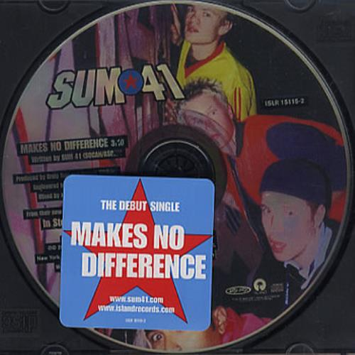 """Sum 41 Makes No Difference CD single (CD5 / 5"""") US S41C5MA358744"""