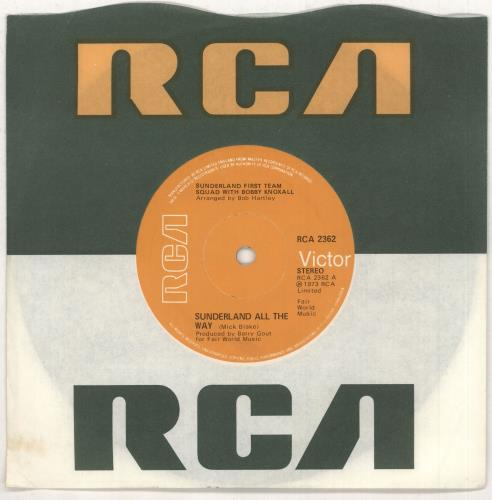 "Sunderland FC Sunderland All The Way 7"" vinyl single (7 inch record) UK SUA07SU749145"