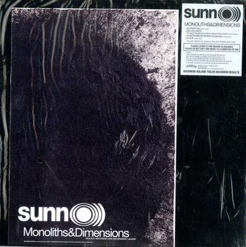 Sunn O))) Monoliths & Dimensions - Sealed 2-LP vinyl record set (Double Album) US SUQ2LMO473086