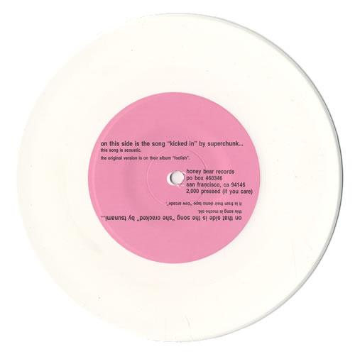 """Superchunk Kicked In - White vinyl 7"""" vinyl single (7 inch record) US SPC07KI474493"""