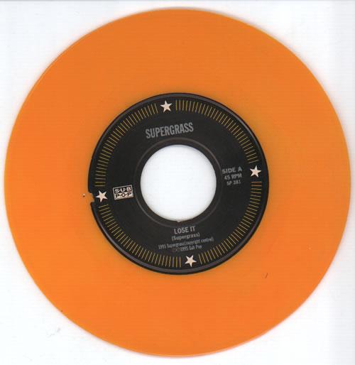 "Supergrass Lose It - Mustard Vinyl 7"" vinyl single (7 inch record) US SGS07LO633753"