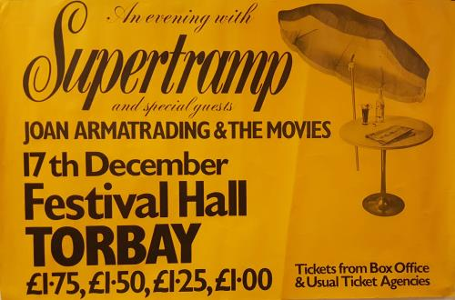 Supertramp An Evening With Supertramp poster UK SPTPOAN662389