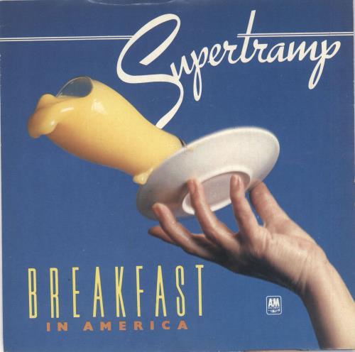 "Supertramp Breakfast In America + Sleeve 7"" vinyl single (7 inch record) UK SPT07BR160183"