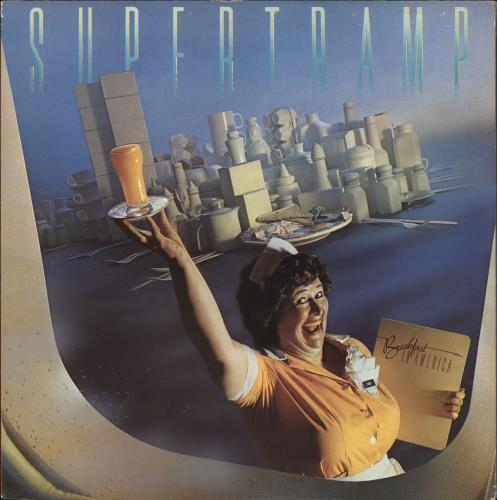 Supertramp Breakfast In America - Gold Promo Stamped vinyl LP album (LP record) UK SPTLPBR542100
