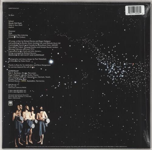 Supertramp Crime Of The Century - Grey & White Splatter Vinyl - Sealed vinyl LP album (LP record) UK SPTLPCR736204