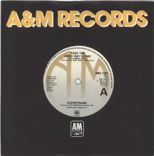"Supertramp Take The Long Way Home 7"" vinyl single (7 inch record) UK SPT07TA720926"