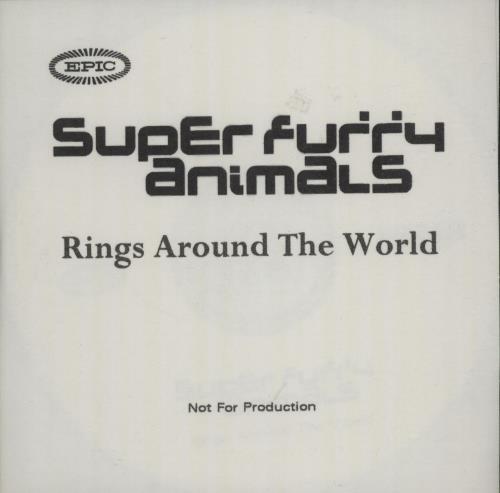 Super Furry Animals Rings Around The World - album CD-R acetate UK SFACRRI193375