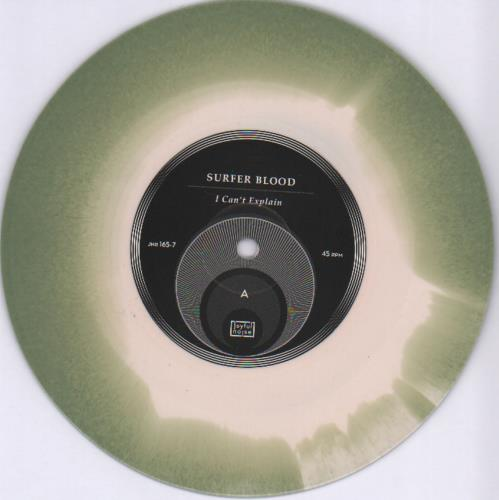 """Surfer Blood I Can't Explain - Olive Vinyl + Numbered Sleeve 7"""" vinyl single (7 inch record) US YU907IC682880"""