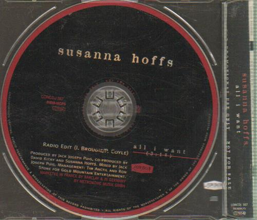 "Susanna Hoffs All I Want CD single (CD5 / 5"") UK HOFC5AL72884"
