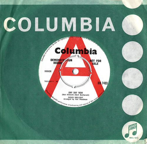 """Susan Holliday Any Day Now 7"""" vinyl single (7 inch record) UK S5H07AN484470"""