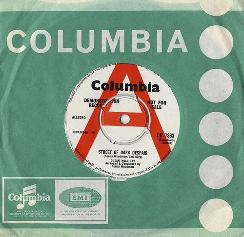 "Susan Holliday Street Of Dark Despair 7"" vinyl single (7 inch record) UK S5H07ST482073"