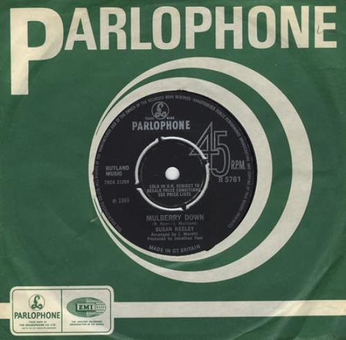 "Susan Keeley Mulberry Down 7"" vinyl single (7 inch record) UK SXK07MU405658"