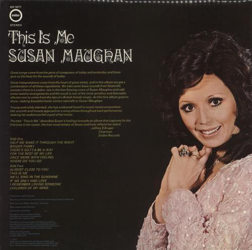 Susan Maughan This Is Me vinyl LP album (LP record) UK SM.LPTH731026
