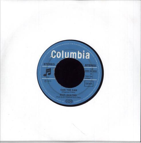 """Suzi Quatro Can The Can 7"""" vinyl single (7 inch record) German SUZ07CA746162"""