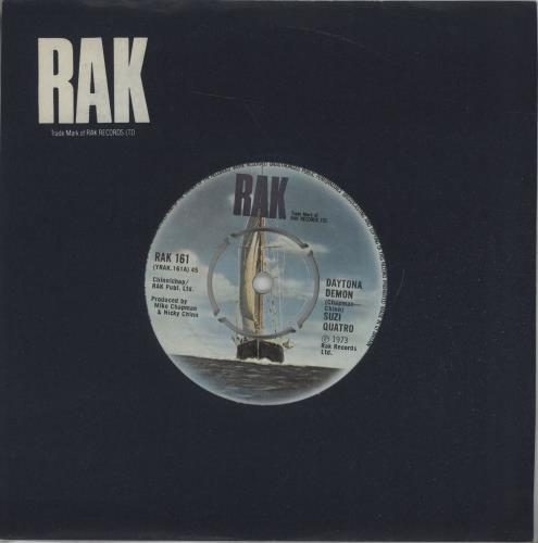 """Suzi Quatro Daytona Demon 7"""" vinyl single (7 inch record) UK SUZ07DA677423"""