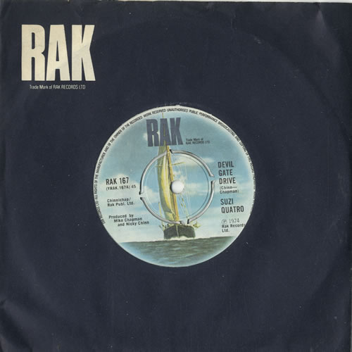 """Suzi Quatro Devil Gate Drive - 4pr 7"""" vinyl single (7 inch record) UK SUZ07DE242422"""